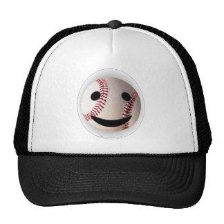 野球のスマイリーマークはあなたの単語を加えます ハット