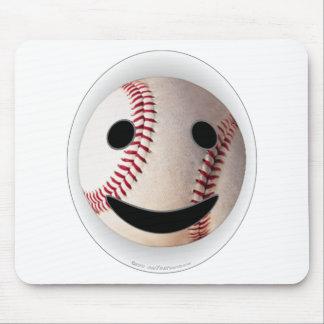 野球のスマイリーマークはあなたの単語を加えます マウスパッド