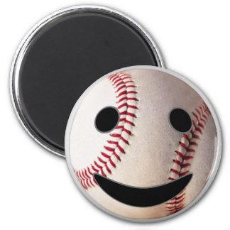 野球のスマイリーマークはあなたの単語を加えます マグネット