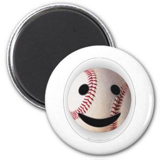 野球のスマイリーマークはあなたの単語を加えます 冷蔵庫マグネット