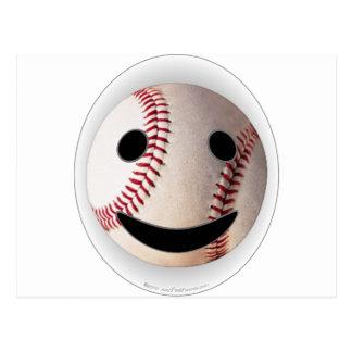 野球のスマイリーマークはあなたの単語を加えます 葉書き