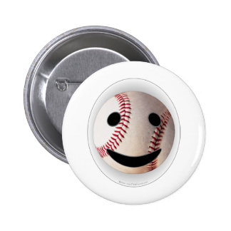 野球のスマイリーマークはあなたの単語を加えます 5.7CM 丸型バッジ