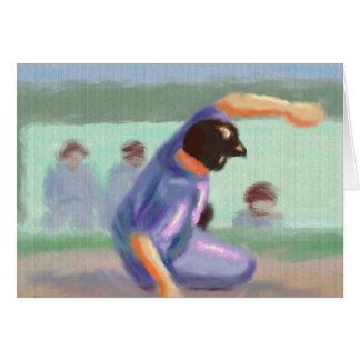 野球のスライド カード