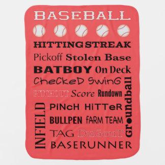 野球のタイポグラフィ ベビー ブランケット