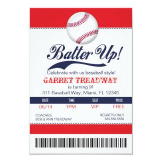 野球のチケットの第2版の上のLGCのねり粉 8.9 X 12.7 インビテーションカード