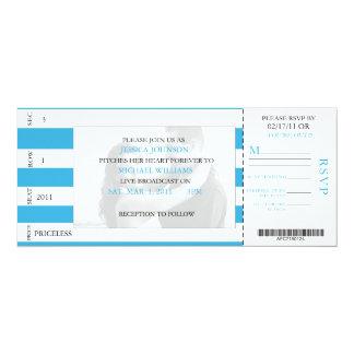 野球のチケット 10.2 X 23.5 インビテーションカード