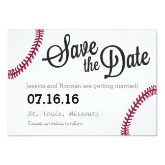 野球のテーマの保存日付 カード