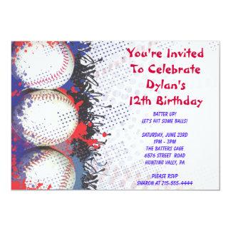 野球のテーマの招待状のハッピーバースデーのパーティー 12.7 X 17.8 インビテーションカード