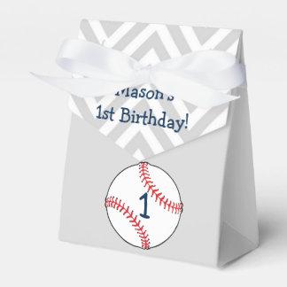 野球のテーマの最初誕生日の好意箱 フェイバーボックス
