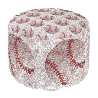 野球のテーマの野球のPouf (座席) ラウンドクッション