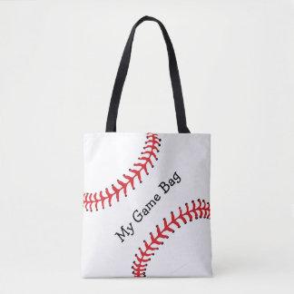 野球のデザインのトートバック トートバッグ