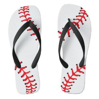 野球のデザインのビーチサンダル ビーチサンダル