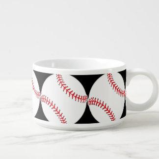 野球のデザインの唐辛子のスープボウル チリボウル