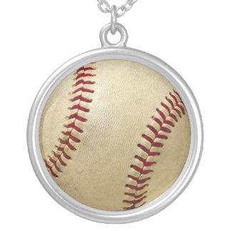 野球のネックレス シルバープレートネックレス