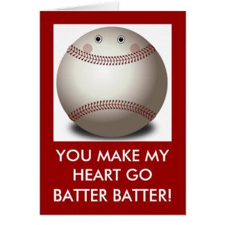 野球のバレンタイン カード