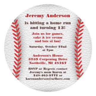 野球のパーティの招待状 13.3 スクエアインビテーションカード