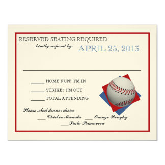 野球のフェルトの紙の応答 カード