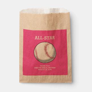野球のブライダルシャワーの好意のバッグ フェイバーバッグ