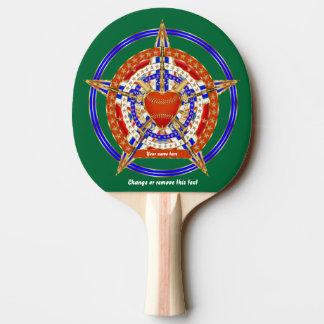 野球のマッチのテールゲートのテーブルの愛ハートの眺めのヒント 卓球ラケット