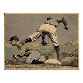野球のヴィンテージのスタイル ポストカード