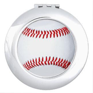野球の写真のコンパクトの鏡