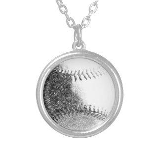 野球の印象 シルバープレートネックレス