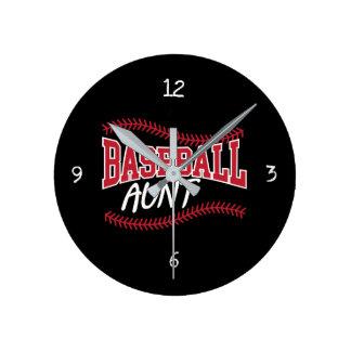 野球の叔母さん ラウンド壁時計