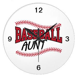 野球の叔母さん ラージ壁時計