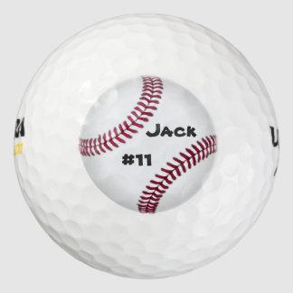 野球の名前入りなゴルフ・ボール ゴルフボール