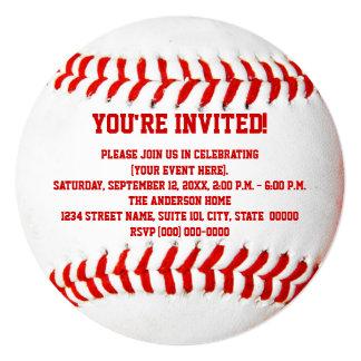 野球の招待状 13.3 スクエアインビテーションカード
