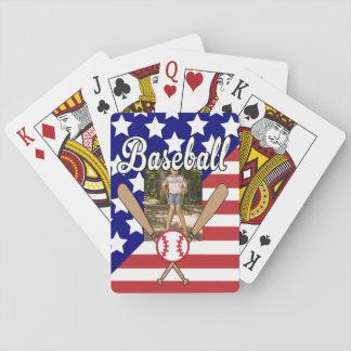 野球の星条旗の写真フレーム トランプ