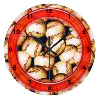 野球の時計 ラージ壁時計