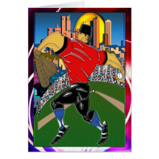 野球の水差しのメッセージカード カード