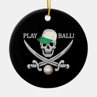 野球の海賊オーナメント セラミックオーナメント