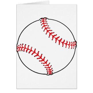 野球の球のメッセージカード カード