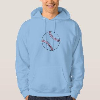野球の球メンズフード付きスウェットシャツ パーカ