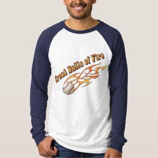野球の素晴らしい炎の塊 Tシャツ