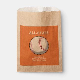 野球の結婚式の引き出物のバッグ フェイバーバッグ