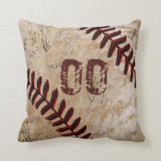 野球の装飾用クッションのジャージー名前入りな数 クッション