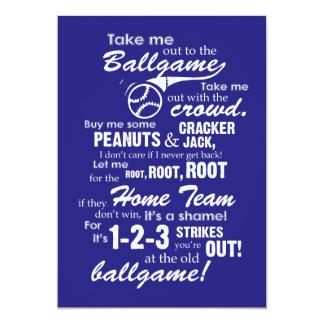 野球の試合に私を連れ出して下さい カード
