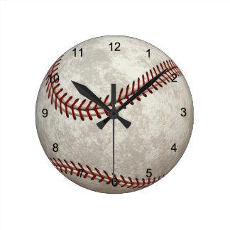 野球の試合のアメリカのを過ぎ時間のスポーツ ラウンド壁時計