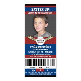 野球の誕生日の写真テンプレート カード