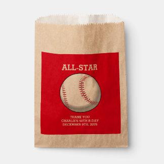 野球の誕生日の好意のバッグ フェイバーバッグ