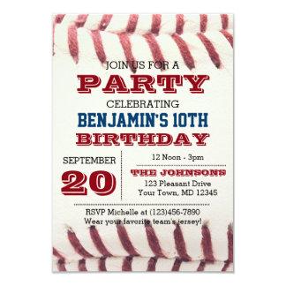 野球の誕生日の招待状 カード