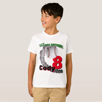 野球の誕生日-カスタムなTシャツ Tシャツ