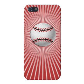 野球のiPhone 5cケース(赤い) iPhone 5 ケース