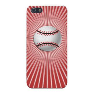 野球のiPhone 5cケース(赤い) iPhone 5 Case