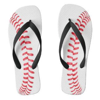 野球はフリップフロップのサンダルを継ぎ合わせます ビーチサンダル