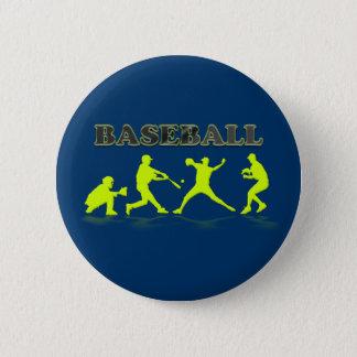 野球はボタンのシルエットを描きます 5.7CM 丸型バッジ