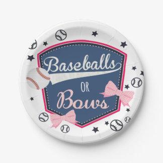 野球または弓性は明らかにします ペーパープレート